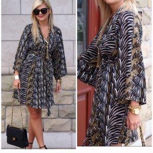 Banana Republic Issa Zebra New Kimono Dress
